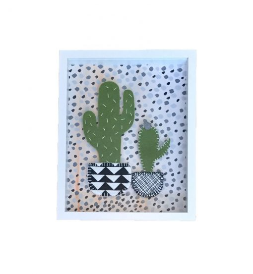 Double Cactus – Black & White with spots
