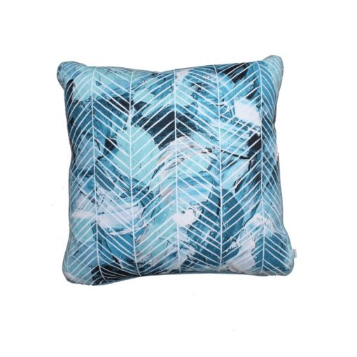 Turquoise Strokes Herringbone cushion